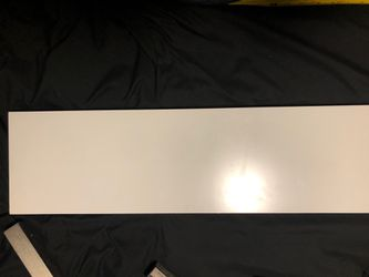 White shelf w/ brackets and extra set of brackets for Sale in Tampa,  FL