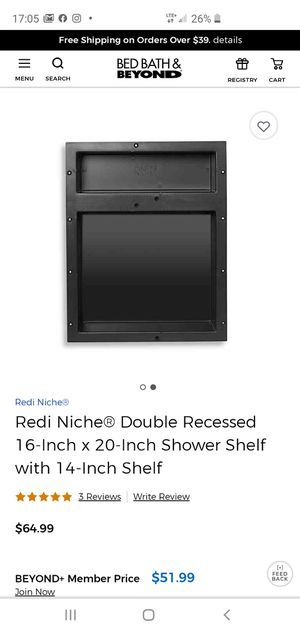 Redi Niche® Double Recessed 16-Inch x 20-Inch Shower Shelf with 14-Inch Shelf for Sale in Pickerington, OH