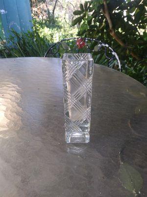 Square single stem cut glass flower vase for Sale in Zephyrhills, FL
