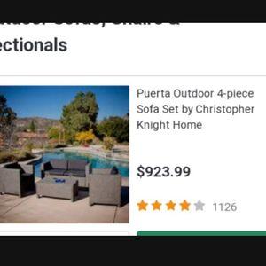 Puerta 4 Piece Outdoor Patio Furniture Patio Set for Sale in Los Angeles, CA