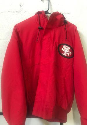 Vintage San Francisco 49ers jacket parka starter chalk line Large for Sale in Miami, FL