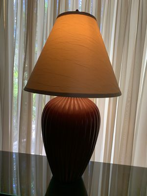 MAROON CERAMIC LAMP for Sale in Indian Rocks Beach, FL