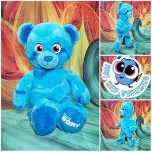 Build A Bear Disney Finding Dory Teddy Bear Blue Ocean Plush Stuffed BAB for Sale in Hallettsville, TX