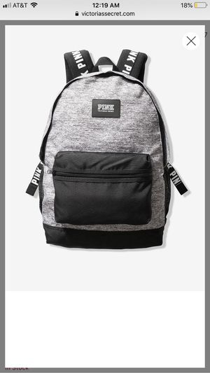 Victoria secret pink grey and black backpack for Sale in Montebello, CA