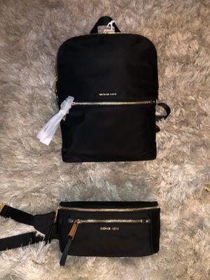 Michael Kors backpack and waist bag set for Sale in North Las Vegas, NV