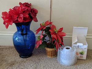 Vase with fake flower and defuser for Sale in North Attleborough, MA