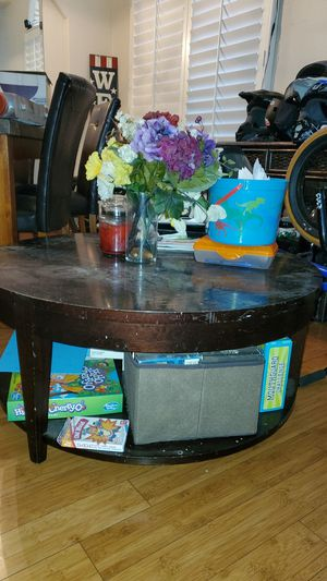 Coffee table with under storage for Sale in Stockton, CA