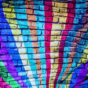 Brick Wall Photo Background with Color Rays Painting Design Rock and roll Backdrop for Party Decoration FD-1750 for Sale in Manchester, CT