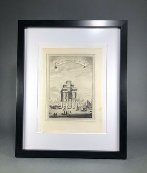 18th century China Copper Plate Engraving Published in 1754 Original Engraving by Pierre Quentin Chedel-Framed for Sale in Miami, FL