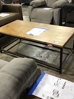 Alec 48 In. Brown Large Rectangle Wood Coffee Table😍 for Sale in Houston,  TX