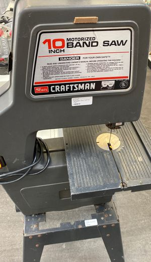 Craftsman 10 motorized bandsaw for Sale in Pflugerville, TX