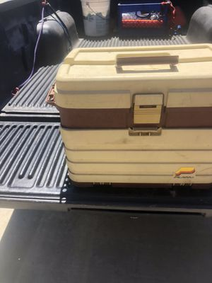 Tackle box full of fishing stuff for Sale in Beaumont, CA