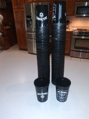 55 NEW JD OLD NO.7 PROMOTIONAL PLASTIC 10 OZ. CUPS for Sale in Naperville, IL