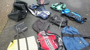 Various duffles, carrying bags, ball bag, backpack, etc for Sale in North Andover, MA