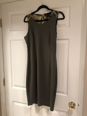 BRAND NEW KARDASHIAN KOLLECTION SIZE L ARMY PRINT DRESS for Sale in Princeton, NJ