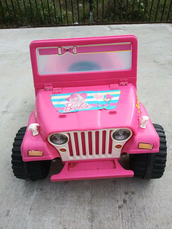 Pink Barbie Jeep