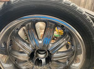 Rims and tires 5 lugs 5x4.5 22s for Sale in Dallas, TX