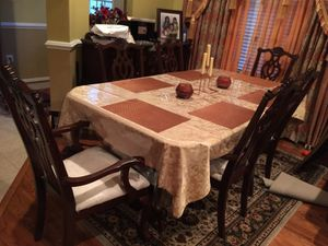 six chairs +dining table +console for Sale in Bristow, VA