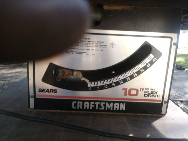 Craftsman 10in flex drive table saw