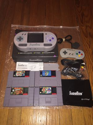 SupaBoy SNES/Super Famicom control deck 7 Game Set complete in box PLEASE READ THE DESCRIPTION BELOW BEFORE MESSAGING for Sale in Chicago, IL