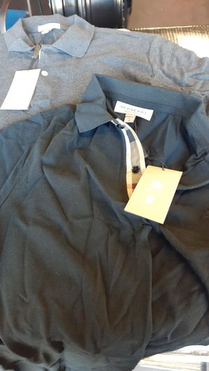 Burberry polo shirt black and grey for Sale in Bell Gardens, CA