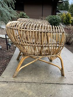 Set Of 2 Boho Rattan Chairs for Sale in Redmond,  WA