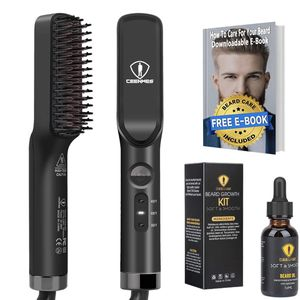 Ceenwes 3 in 1 Beard Straightener with FREE Beard Oil Ideal Gifts for Him Portable Hair Straightener Brush Perfect Men gifts for Hair Styling Christma for Sale in Redlands, CA
