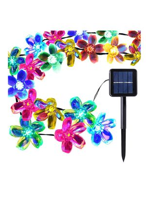50 Led Solar Outdoor Blossom Lights \ Outside Flower String Lights Decorations, New. for Sale in Silver Spring, MD