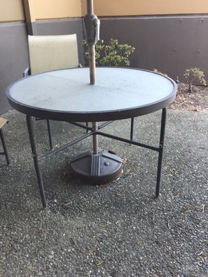 Glass Top Patio Table for Sale in San Francisco, CA