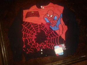 Junior toddler marvel spiderman leather jacket for Sale in Tampa, FL