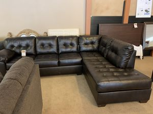 black tufted sofa sectional for Sale in Phoenix, AZ