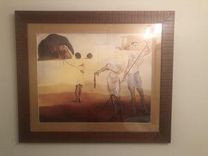 Salvador Dali Print incased in Frame for Sale in Miami, FL