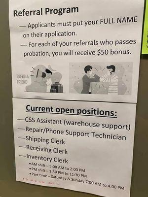 Job opening for Sale in Hacienda Heights, CA
