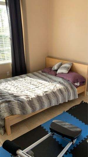 IKEA full size bed frame, mattress, cover and sheets included! Never used for Sale in Palm Coast, FL