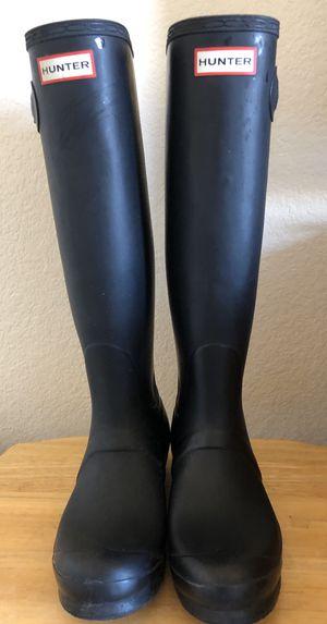 Hunter Original Tall Women's Rain Boots - Black for Sale in Tempe, AZ