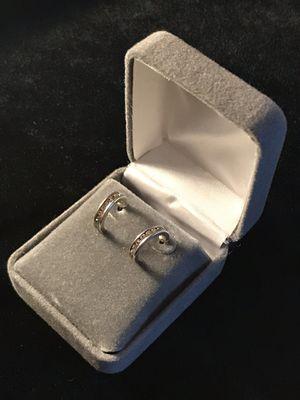 Diamond CZ Earrings Silver for Sale in Berwyn, IL