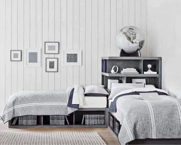 Pottery barn superset corner twin beds