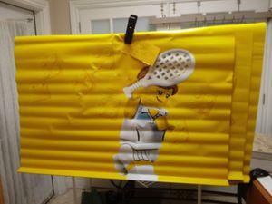 Lego tennis wall hanging vinyl - blocks -racket- ball- games - sports + tennis for Sale in Naples, FL