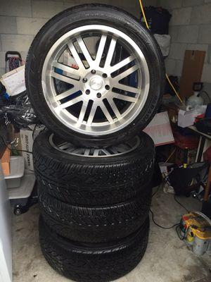 BLACK RHINO ZAMBIA RIMS 22inch + Tires 285/45R22 (YOKOHAMA) for Sale in Miami, FL