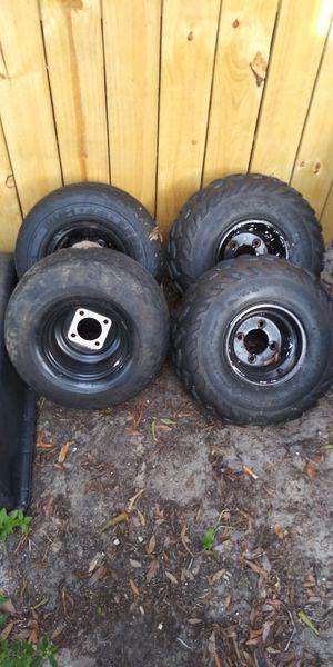 A.t.v. & golf cart wheels n tires for Sale in Jacksonville, FL