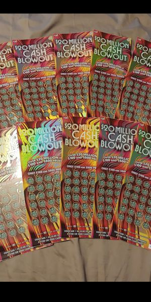 X10 $30 WA Lottery Scratch Tickets - UNSCRATCHED - $20 million Cash Blowout for Sale in Spanaway, WA