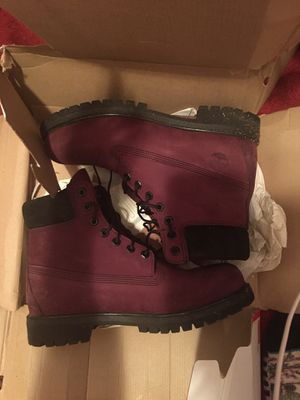 Burgundy timberland for me for Sale in The Bronx, NY