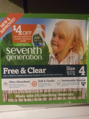 Seventh Generation Diapers Size 4 for Sale in Philadelphia, PA