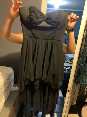 (Pilsen pickup)Never worn gorgeous black chiffon dress. Size large (can also fit a medium) for Sale in Chicago, IL