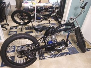 Micargi custom fat tire bike with 4 stage racing motor and extras for Sale in Oakland Park, FL