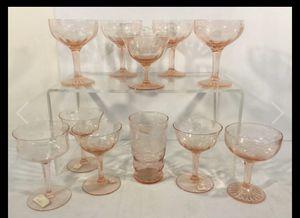 Antique Pink Depression Glasses for Sale in Las Vegas, NV