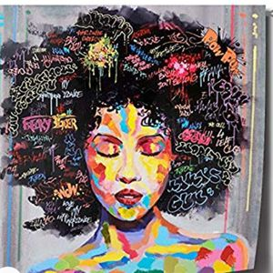 Colorful Expressions Wall Art Intense Bold Texture Hair Colors Wall Canvas Art Painting for Sale in Bowie, MD