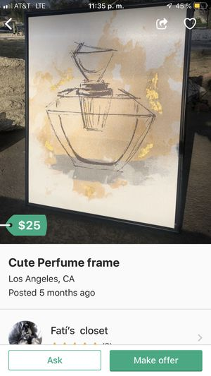 Cute perfume frame for Sale in Baldwin Park, CA