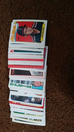 Stack of 100 baseball cards of good players for Sale in Darlington, PA