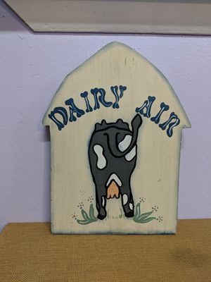 """Used, Great Wooden Decor of a Cows """" Dairy Air"""" for Sale for sale  Holiday, FL"""